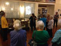 Giving a tour of Saving the Sunshine State: Women Leaders in the 20th Century at the Matheson History Museum.