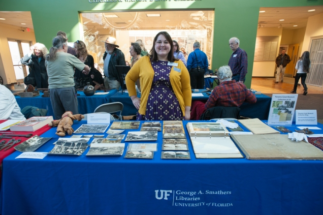 Showcasing Panama Canal Museum Collection items at Collector's Day at the Florida Museum of Natural History.